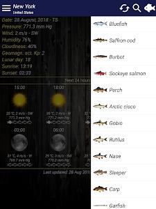 screenshot of Fishing forecast version 4.10.1