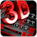 Download 3D Black Red Keyboard Theme 10001006 APK