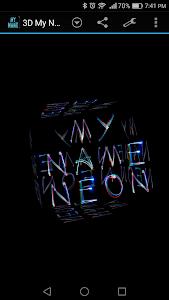 Download 3D My Name Neon Live Wallpaper 1.75 APK