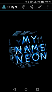 Download 3D My Name Neon Live Wallpaper 1.80 APK