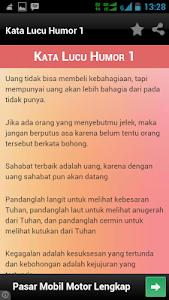 screenshot of 565 Kata Lucu Humor version 1.0
