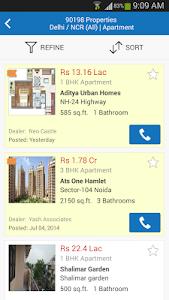screenshot of 99acres Real Estate & Property version 2.3.0