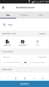 screenshot of 99acres Real Estate & Property version 3.0.2