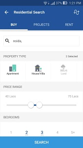 screenshot of 99acres Real Estate & Property version 5.3.2
