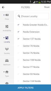 screenshot of 99acres Real Estate & Property version 3.0.3