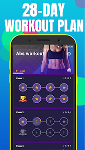screenshot of Abs Workout in 28 Days-home ab & core fitness plan version 1.3