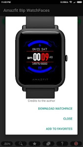 screenshot of Amazfit Bip WatchFaces version 3.42