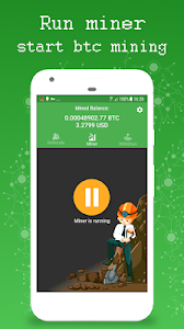 screenshot of Bitcoin Mining - Earn Bitcoins & BTC Miner version 2.3
