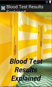 screenshot of Blood Test Results Explained version 3.0