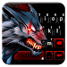 Bloody Metal Scary Wolf Keyboard - Wolf theme
