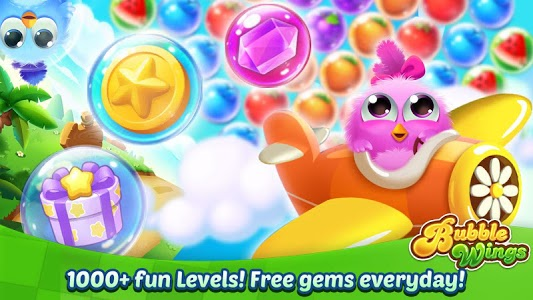 screenshot of Bubble Wings: offline bubble shooter games version 1.3.7