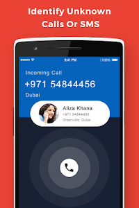 screenshot of Caller ID & Mobile Locator version 1.2
