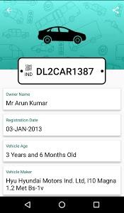 screenshot of Car Info Vehicle Registration version 1.6