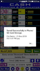 screenshot of Cash Calculator & Counter (India) version 18