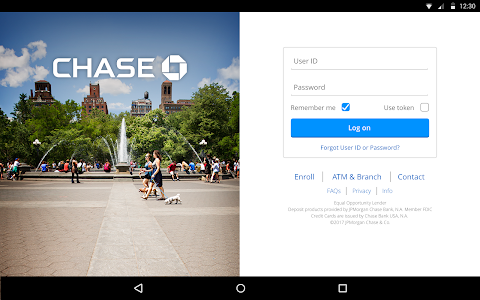 screenshot of Chase Mobile version 3.61