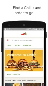 screenshot of Chilis version Varies with device