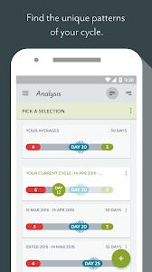 screenshot of Clue Period Tracker version 3.0.16