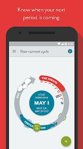 screenshot of Clue - Period Tracker version 2.2.8