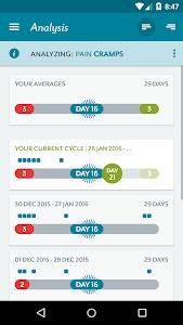 screenshot of Clue - Period & PMS Tracker version 2.2.5