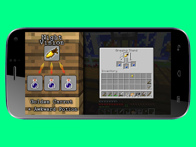 screenshot of Crafting Guide for Minecraft version 2.1