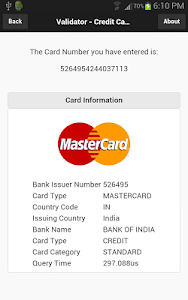 screenshot of Credit Card Revealer version 1.1