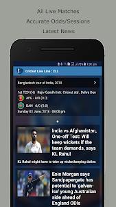 screenshot of Cricket Live Line : CLL - World's Fastest version 18.0.4