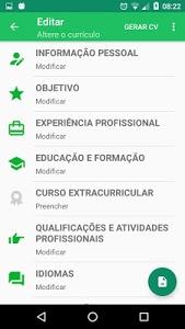 screenshot of Currículo em Português com Foto version 1.2