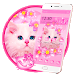 Download Cute Pink Kitty Cat Theme 1.1.3 APK