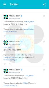 screenshot of DOST PAGASA Mobile App version 2.69