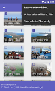 screenshot of DiskDigger photo recovery version Varies with device