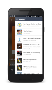 screenshot of DoublePod Podcasts for android version 3.1.7
