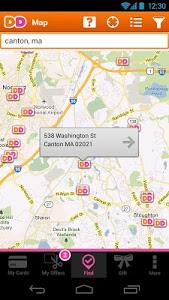 screenshot of Dunkin' Donuts version 3.9