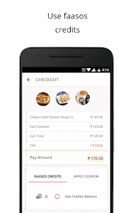 screenshot of FAASOS - Order Food Online version 5.8.7
