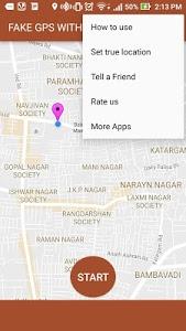 screenshot of Fake GPS with Joystick version 1.0