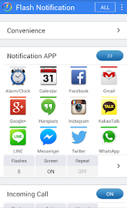 screenshot of Flash Notification 2 version 3.28