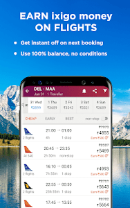 screenshot of Flight & Hotel Booking App - ixigo version 4.1.6
