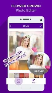 screenshot of Flower Crown Photo Editor version 6.0