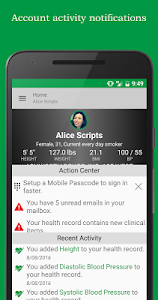 screenshot of FollowMyHealth® version 2.12