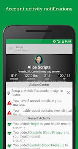 screenshot of FollowMyHealth® version 2.10.1