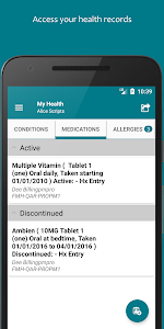 screenshot of FollowMyHealth® version 3.2