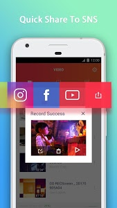 screenshot of GO Recorder – Screen Recorder, Video Editor version 1.20