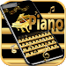 Download Gold Keyboard theme Gold Piano Tiles & eighth note 10001004 APK