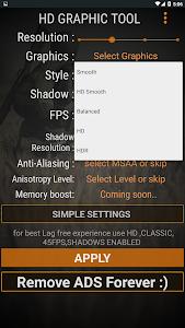 screenshot of HD Graphics Tool version 6.0.1