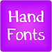 Hand fonts for FlipFont® free