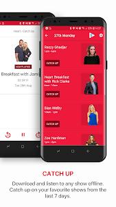 screenshot of Heart Radio App version 19.0.0