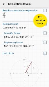 screenshot of HiPER Scientific Calculator version 5.0.2