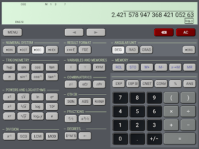 screenshot of HiPER Scientific Calculator version 6.0.3