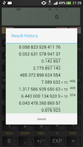 screenshot of HiPER Scientific Calculator version 1.0