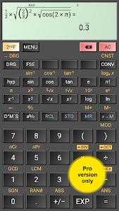 screenshot of HiPER Scientific Calculator version 3.4.2