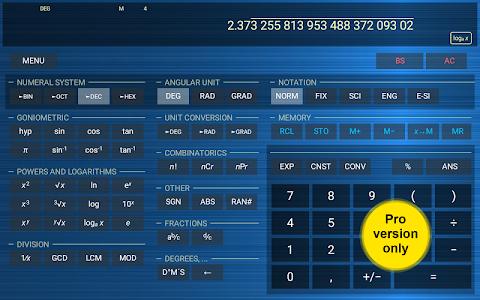 screenshot of HiPER Scientific Calculator version 3.1